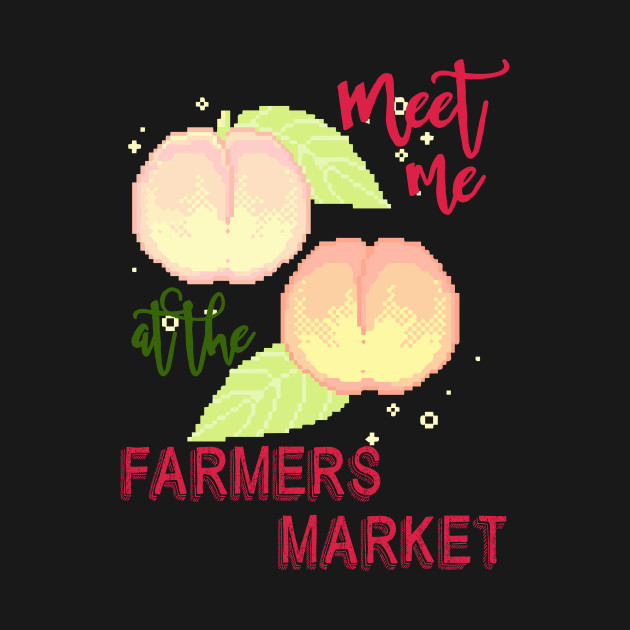 Meet me at the farmers market - pixel peach japanese