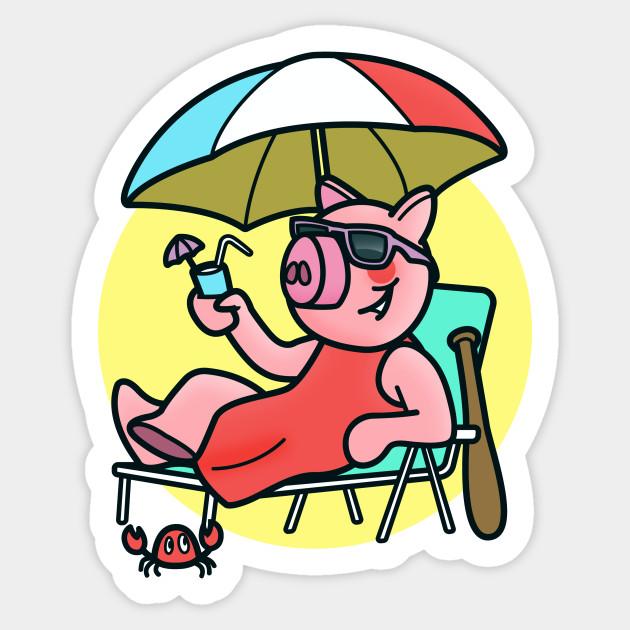Piggy Summer Game Character Roblox Piggy Sticker Teepublic