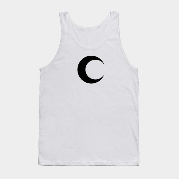 Moon Knight Classic Symbol Black Clean Moon Knight Tank Top