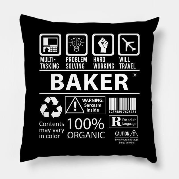 Baker T Shirt - MultiTasking Certified Job Gift Item Tee