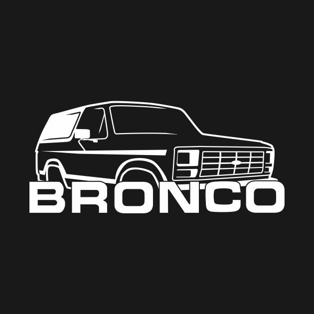 1980-1986 Bronco, front side, white cap, white print