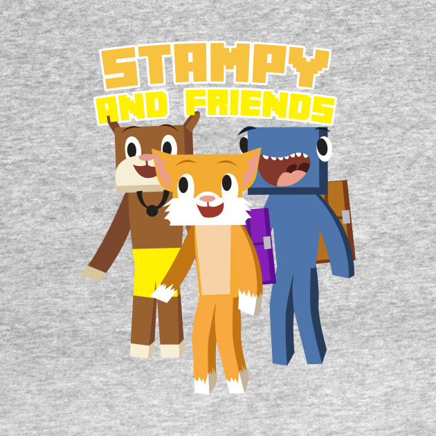 Minecraft Youtuber Stampy Cat, iBallisticsquid, L for Lee x Stampylongnose T-Shirt