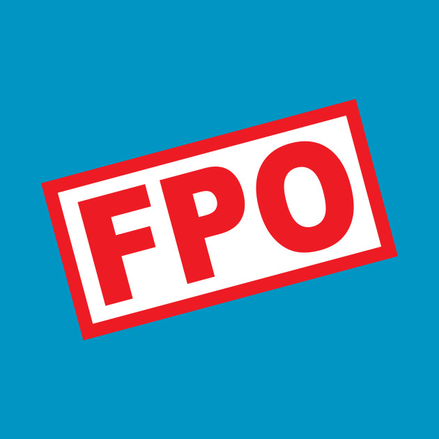 For Position Only - FPO - white background