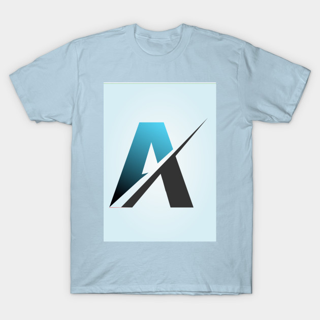 Letter A Graphic Text Effect T-Shirt