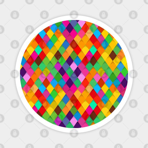 Birds Of Prey Multicolor Diamonds Birds Of Prey Magnet Teepublic
