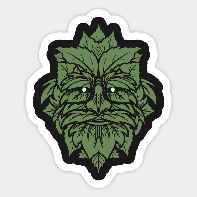 TRADITIONAL CELTIC WICCA PAGAN GREENMAN T-SHIRT AND MERCHANDISE