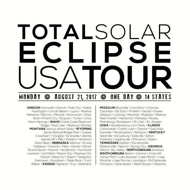 Total Solar Eclipse USA TOUR