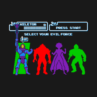 Select Your Evil Force t-shirts