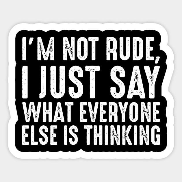 IM NOT RUDE I SAY WHAT EVERYONE ELSE IS THINKING ADULT HUMOUR XMAS GIFT T SHIRT