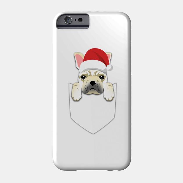 01ca7f74f Cream French Bulldog Dog Frenchie Christmas Pocket Graphic - French ...