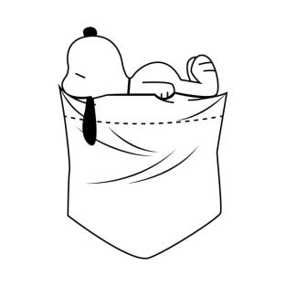 POCKET SNOOPY t-shirts