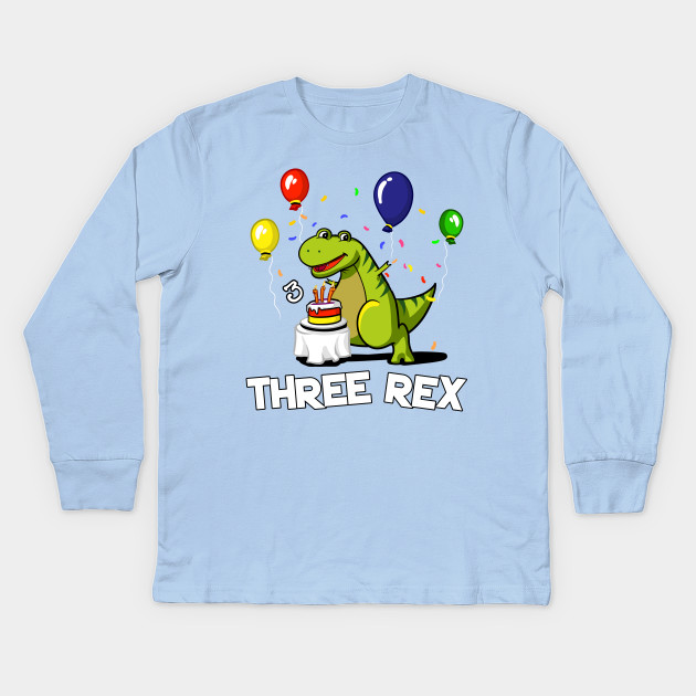 Youth 3rd Birthday Shirt 3 Year Old Dabbing Dinosaur