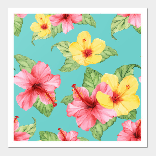 Colorful Summer Hibiscus Flowers Hibiscus Flowers Posters And