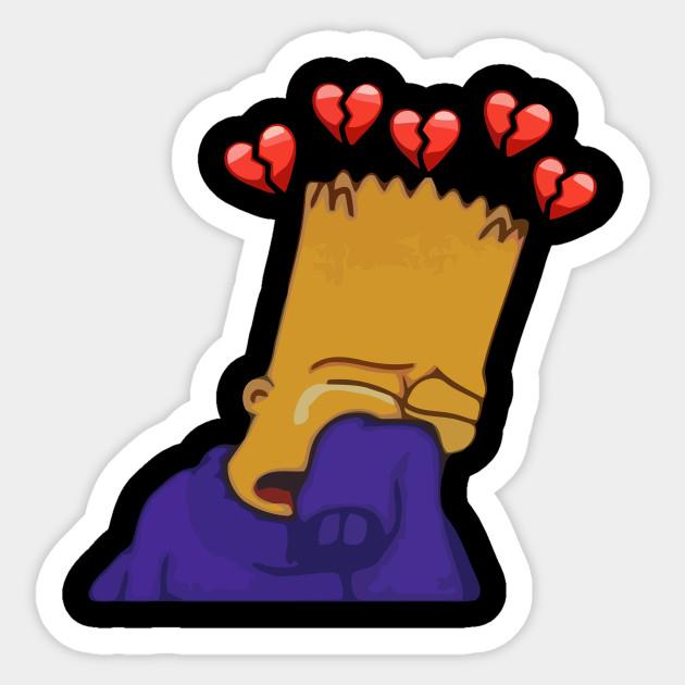 Sad Bart - Bart - Sticker