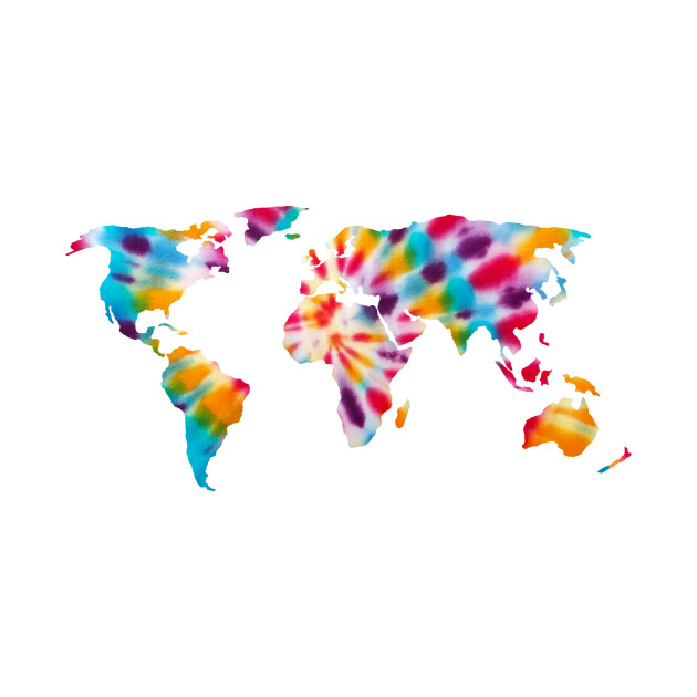 Tie Dye World Map Bro
