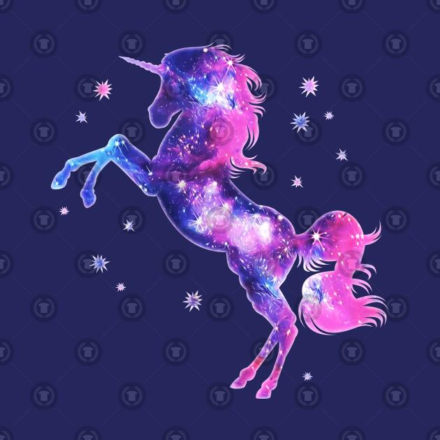 Cosmic Unicorn Fantasy Stars Galaxy Horse Space Unicorn