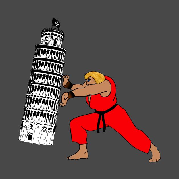 Ken visits Pisa
