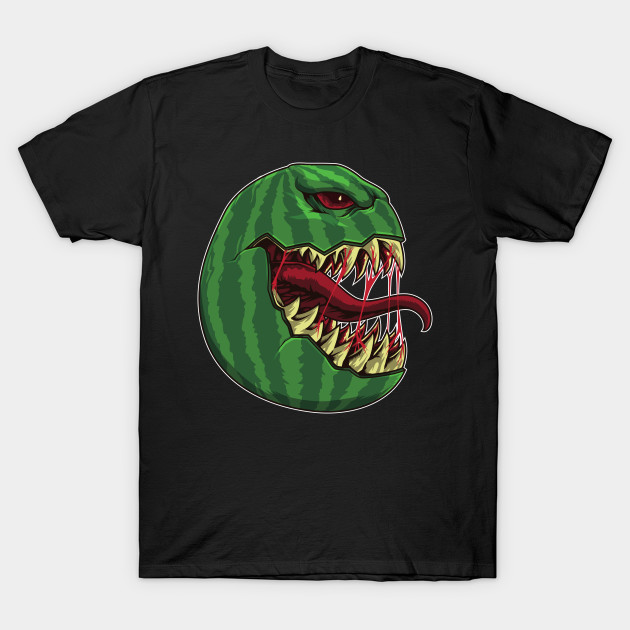 Halloween Watermelon with Fangs - Halloween Party T-Shirt
