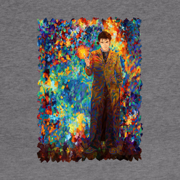 10th doctor with screwdriver abstract art