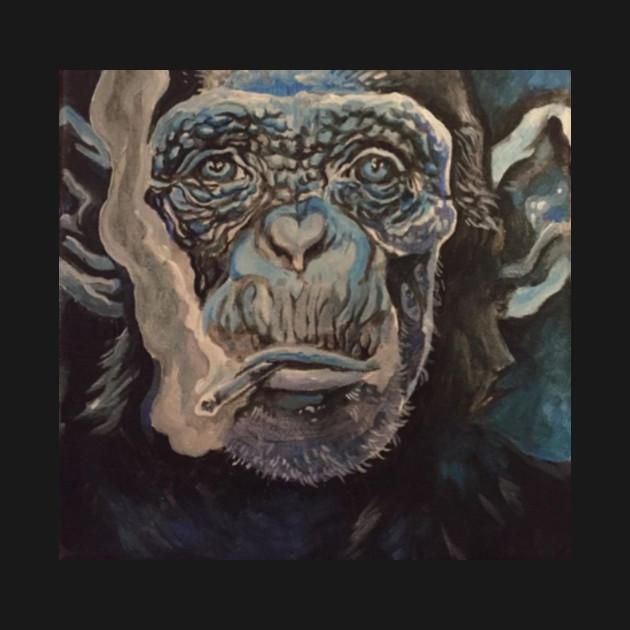 smoking monkey chimpanzee