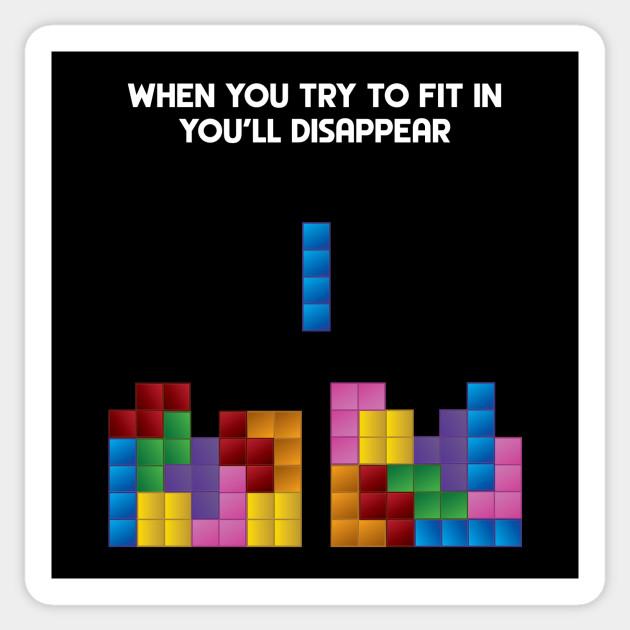 Cuscini Tetris.Tetris Fitting In Tetris Adesivo Teepublic It