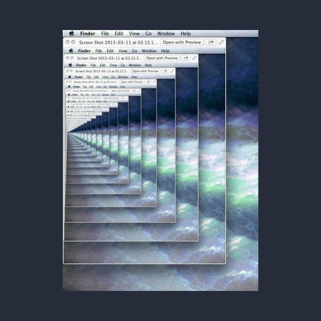Vaporwave Microsoft paint inception