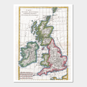 British isles map wall art teepublic vintage map of the british isles 1780 wall art gumiabroncs Gallery