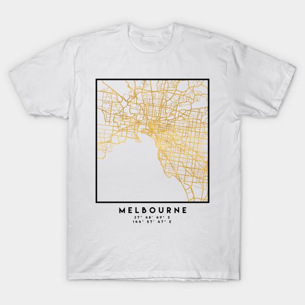 Melbourne Australia City Map.Melbourne Australia City Street Map Art Melbourne T Shirt