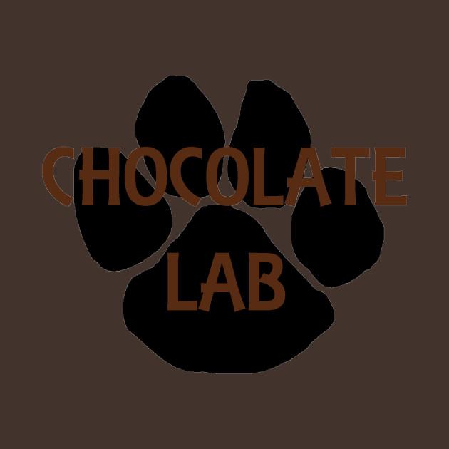 chocolate lab name paw