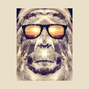 Bigfoot In Shades t-shirts