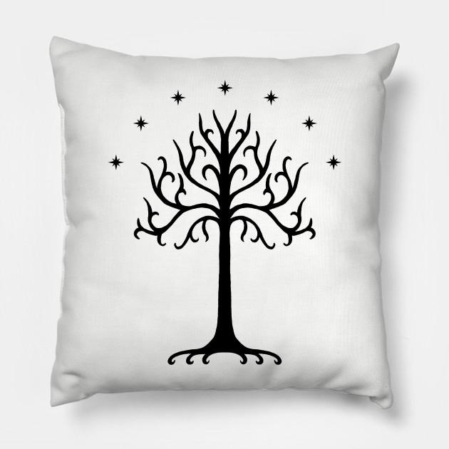 Famous White Tree of Gondor (Black) - White Tree Of Gondor - Pillow  HS77
