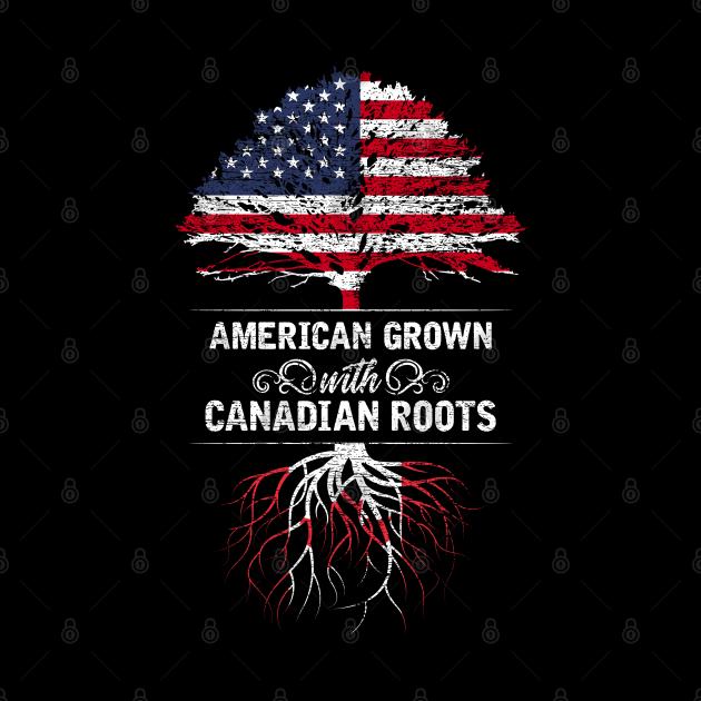 USA Flag Canadian Pride Tree Canada