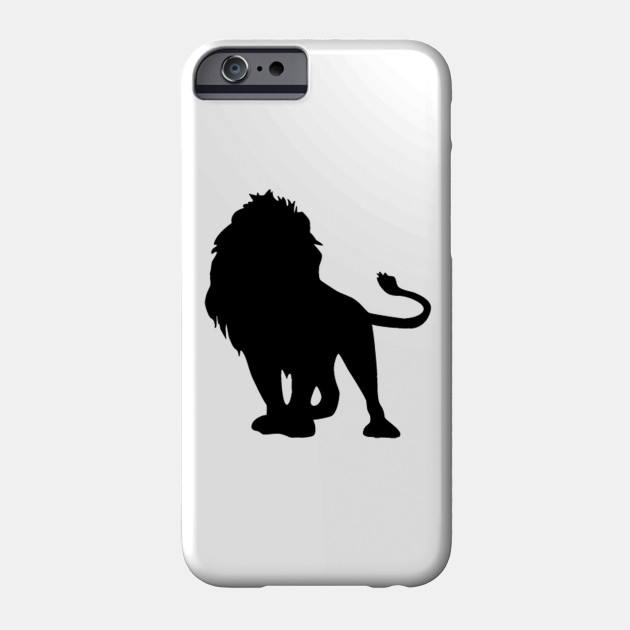 Lion Silhouette Lion Phone Case Teepublic Au Thin line scared emoji speech bubble logo. teepublic