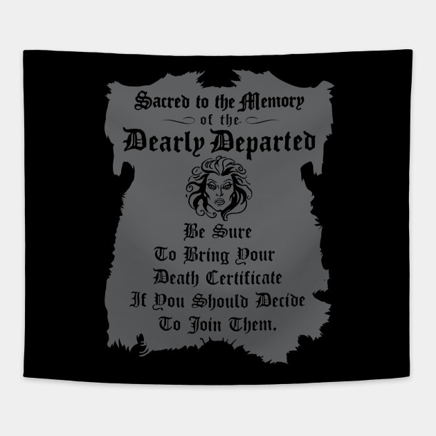 Haunted Mansion Death Certificate Haunted Mansion Tapestry