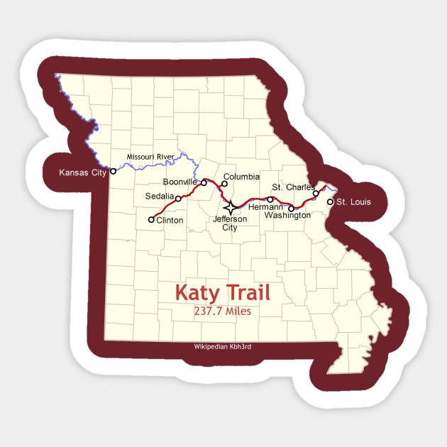 Route Map Design, The Katy Trail