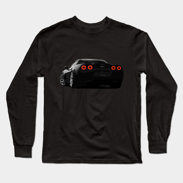 Corvette Racing Men/'s Black Long Sleeve T-Shirt