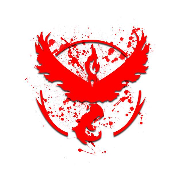 POKEMON GO: TEAM VALOR BLOOD SPLATTER