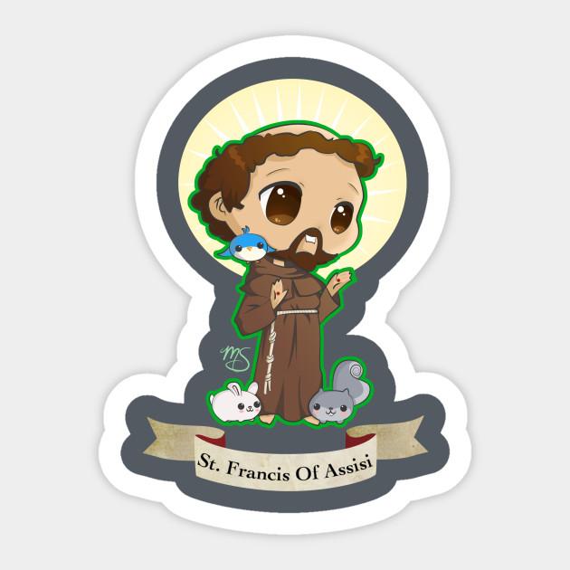 Chibi St Francis Of Assisi St Francis Of Sticker Teepublic