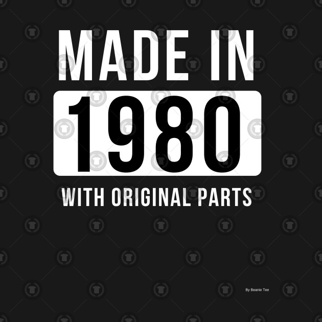 Made In 1980 Gift Idea 1980