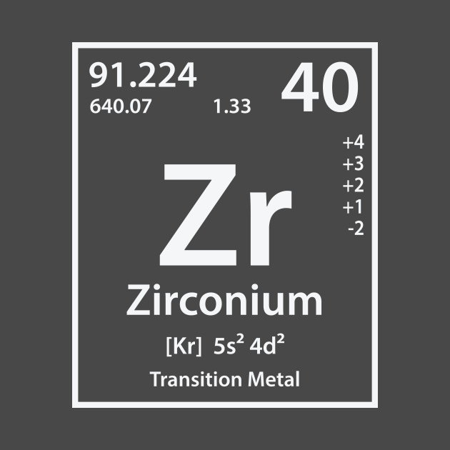 Zirconium Element Zirconium T Shirt Teepublic