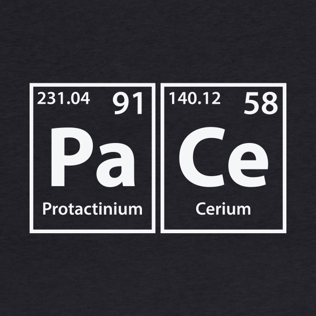 Pace (Pa-Ce) Periodic Elements Spelling