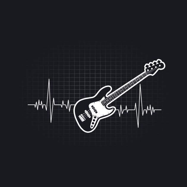 Bass Guitar Heartbeat Gift for Bass Players