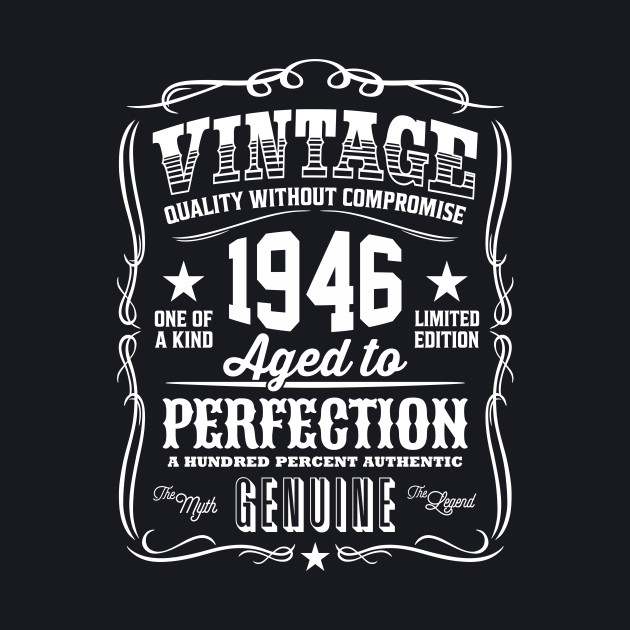 Vintage 1946 Aged to Perfection