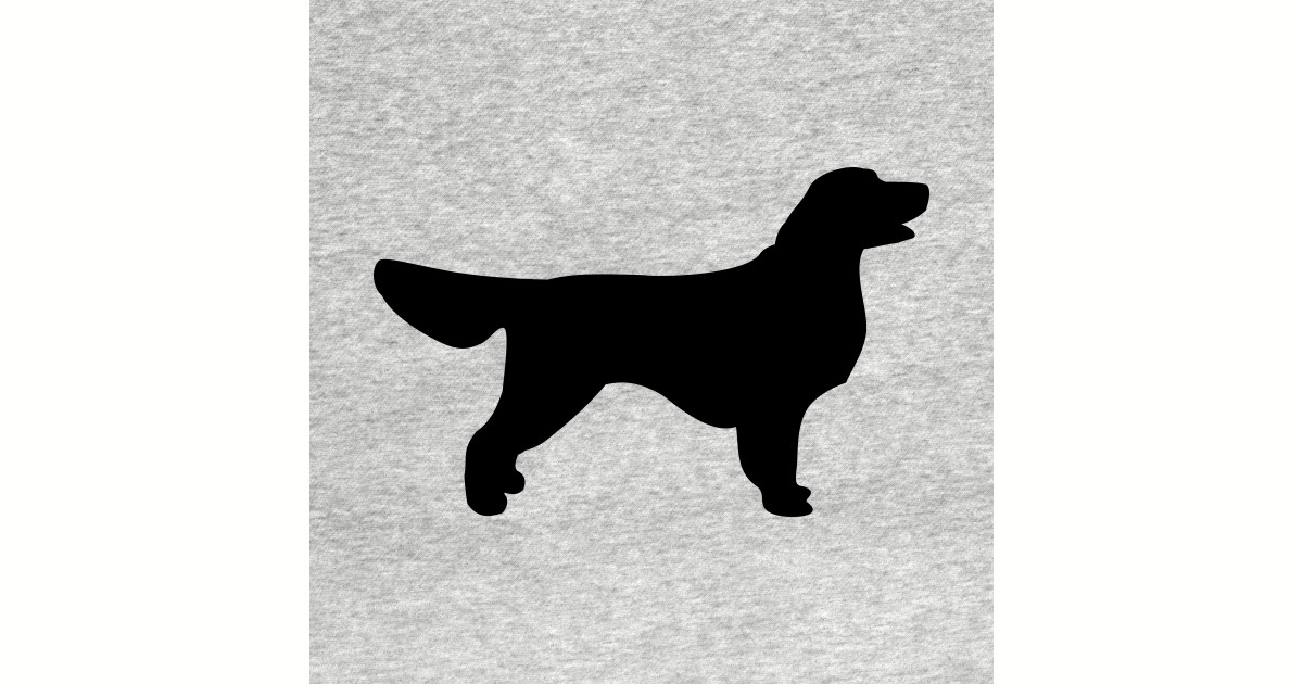 Golden Retriever Black Stencil Silhouette Golden