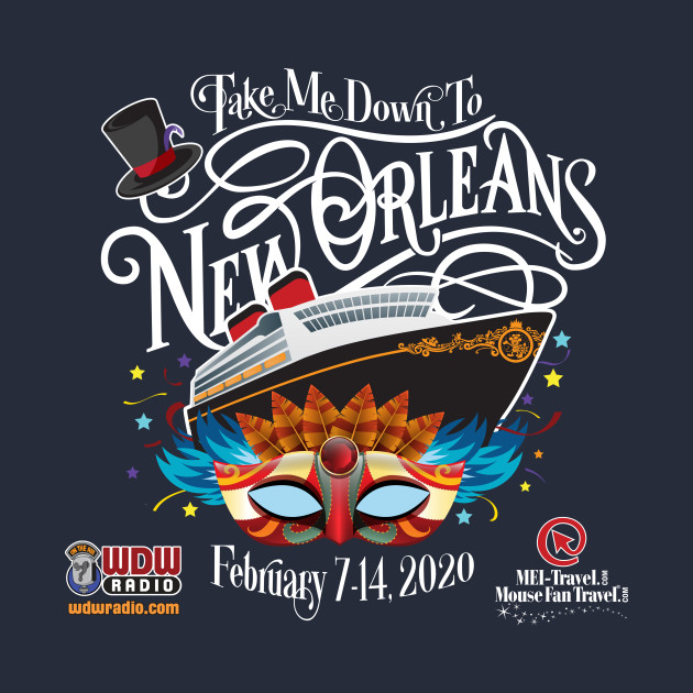 WDW Radio NOLA Cruise (Dark shirts)