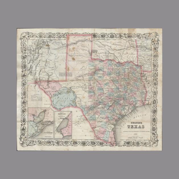 1870 Map Of Texas.Vintage Map Of Texas 1870 Texas Map Hoodie Teepublic