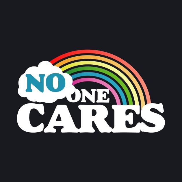 No one cares reto rainbow