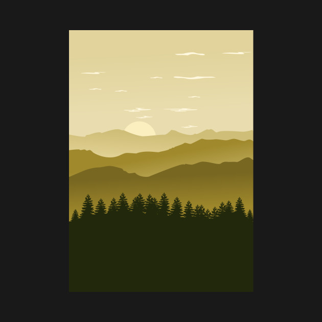 Natur forest minimalist artwork