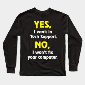 6e003004ff Help Desk Long Sleeve T-Shirts | TeePublic