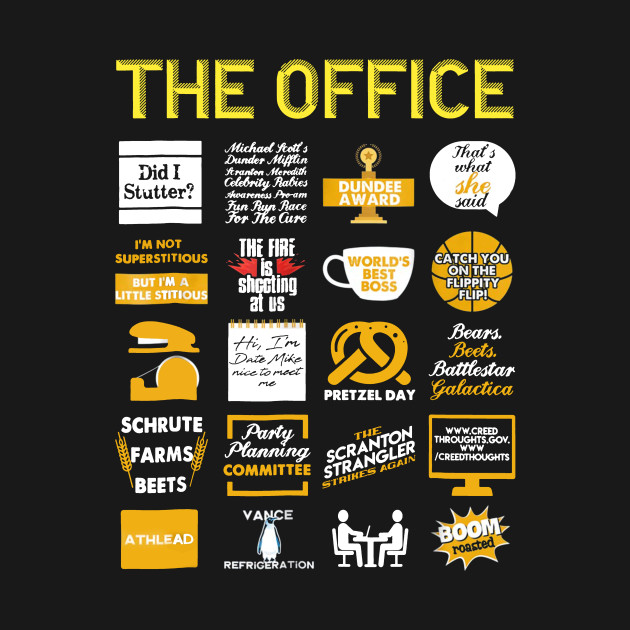 The Office Quote Mash-up Funny T-Shirt Official Tee